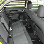 the back seat Citroen C4 cactus