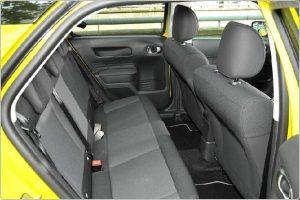 the back seat Citroen C4 cactus