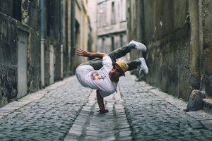 """""""آمادئو"""" ورزشکار فرانسوی در حال تمرین"""