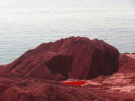 """کوهی قرمز به نام """"گلک"""""""