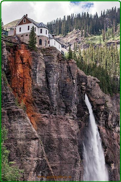 نیروگاه برق و آب Smuggler-Union - آبشار تور عروس (Bridal Veil Falls)