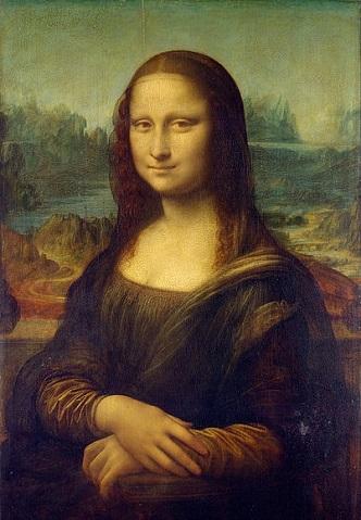 تابلوی مونالیزا اثر لئوناردو داوینچی ۱۵۰۳م ، شاخص ترین اثر هنری در موزه لوور