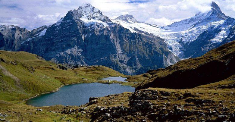 منظره کوه های آلپ alps mountains nature