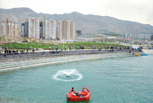 افتتاح برج هیجان در دریاچه چیتگر