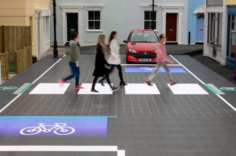 تکنولوژی جدید در پیاده رو