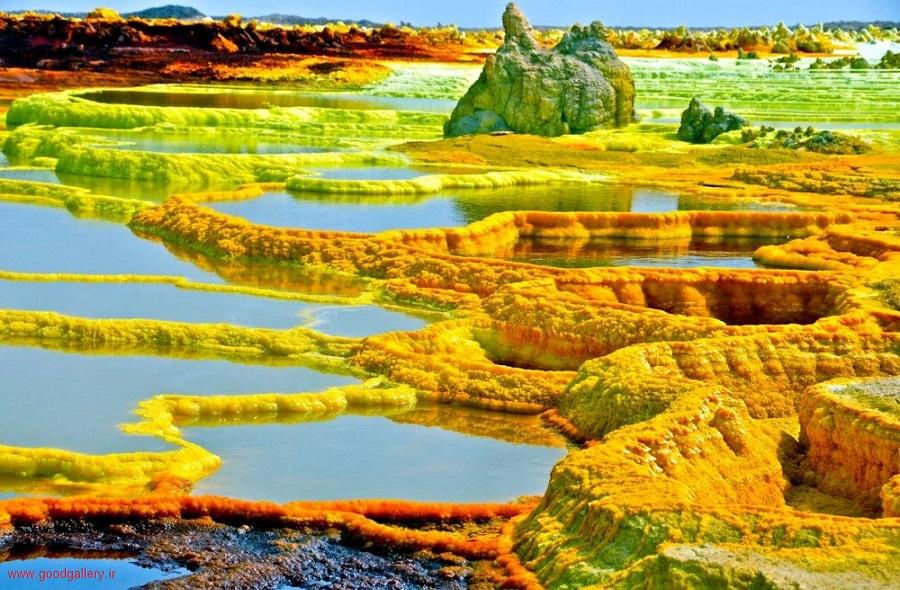 جاهای دیدنی جهان_معدن نمک دالل ؛ اتیوپی (dallol ethiopia)