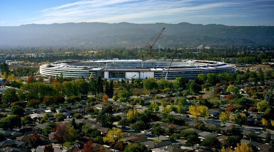 مراحل پایانی ساخت اپل پارک , اپل پارک ساختمان جدید شرکت اپل