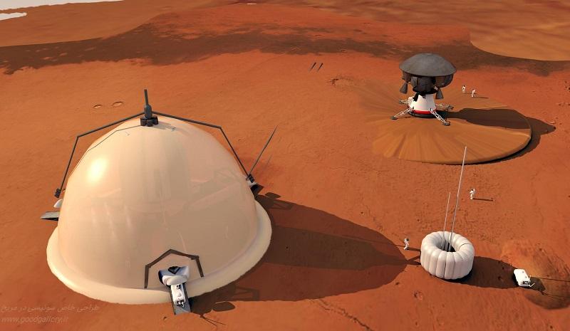 طراحی گنبدهای پوشیده یخ برای سکونت در مریخ